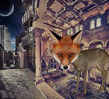 Fox at Night by MidnightMermaid