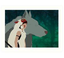 Princess Mononoke stlyised design Art Print