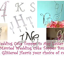cake topper initials by wholesalewed
