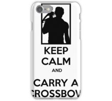 Keep Calm and Carry a Crossbow - Black iPhone Case/Skin