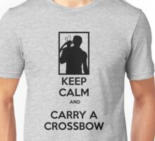 Keep Calm and Carry a Crossbow - Black Unisex T-Shirt