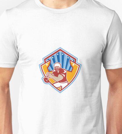American Football Quarterback Star Shield Unisex T-Shirt