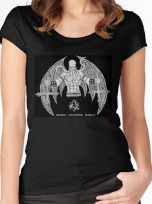 Death Metal Cthulhu (Raw Version) Women's Fitted Scoop T-Shirt
