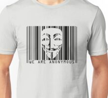 code barre anonymous  Unisex T-Shirt