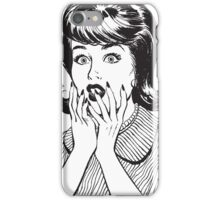 Amazed woman iPhone Case/Skin