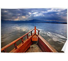 Boat ride in Lake Kerkini Poster