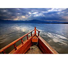 Boat ride in Lake Kerkini Photographic Print