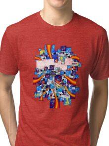 Abstract digital art - Deselia V2 Tri-blend T-Shirt