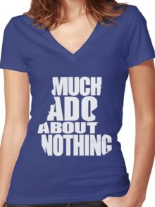 Much Ado Women's Fitted V-Neck T-Shirt