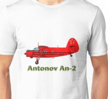 Antonov An-2 with text Unisex T-Shirt