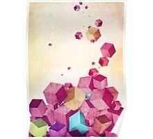 Color Cubes Poster