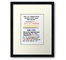 Advice to New Husbands Framed Print