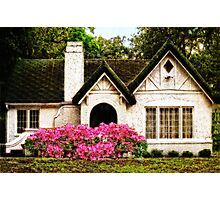 Pink Azaleas - Old Southern Charm By Sharon Cummings Photographic Print