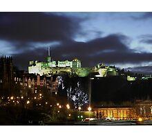 Christmas in Edinburgh Photographic Print
