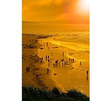 people enjoying the beach Photographic Print