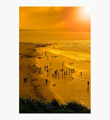 people enjoying the beach Photographic Print