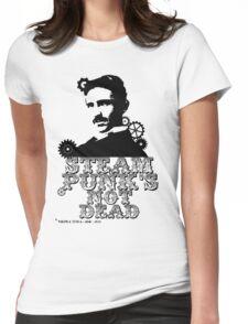 Nikola Tesla was a punk Womens Fitted T-Shirt
