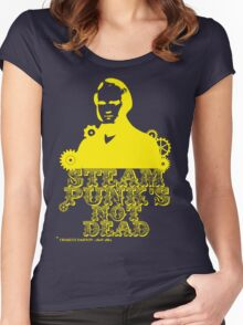 Charles Darwin was a yellow punk Women's Fitted Scoop T-Shirt