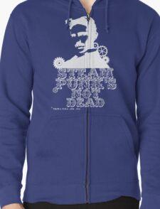 Nikola Tesla was a white punk Zipped Hoodie