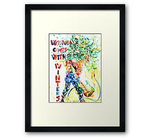 WISDOM COMES WITH WINTERS Framed Print