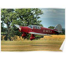 1937 Percival P-10 Vega Gull C/N K.65 Poster
