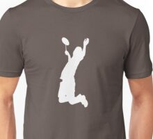 Badminton Player Smash - White Unisex T-Shirt