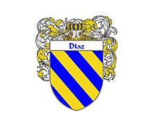 Diaz Coat of Arms/Family Crest Photographic Print