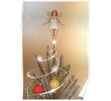 Fairy Atop The Christmas Tree Poster