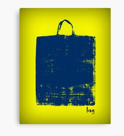 Le Bag (Blue) Canvas Print