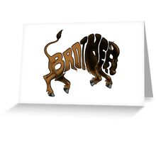 Brother Buffalo Greeting Card