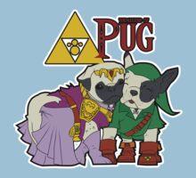 Legend of Pug: Zelda/Pug Cross One Piece - Short Sleeve