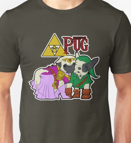 Legend of Pug: Zelda/Pug Cross Unisex T-Shirt