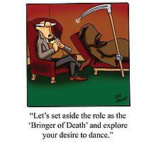 Grim Reaper Cartoon Photographic Print