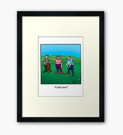 Funny Golf Cartoon! Framed Print