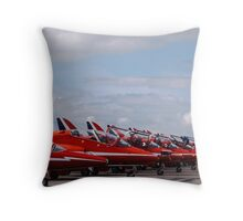 Stationary Red Arrows Throw Pillow