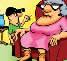 Funny Grandma Cartoon! Sticker