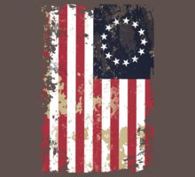 Tattered US Flag by DCVisualArts