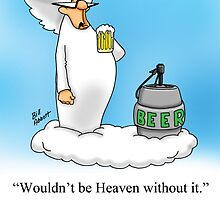 Funny Angel Beer Drinking Cartoon! by spectickles