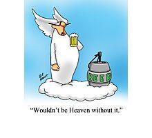 Funny Angel Beer Drinking Cartoon! Photographic Print