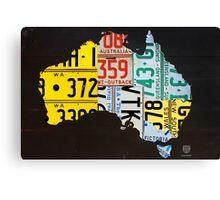 Australia License Plate Map Canvas Print