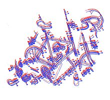 Bike diagram Photographic Print