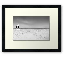 football field in the snow Framed Print