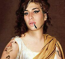 Amy Winehouse as Madame Raymond de Verninac painted by  Jacques-Louis-David by PrivateVices