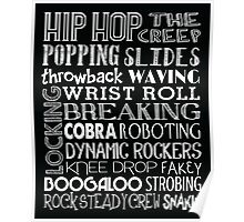 Hip Hop Dance Subway Art Poster Poster