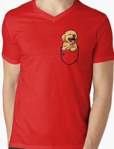 Pocket Puppiez - Golden Retriever Mens V-Neck T-Shirt