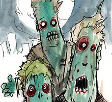 3 sad zombies by byronrempel