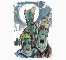 3 sad zombies Kids Clothes
