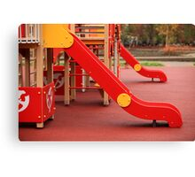 playground slide Canvas Print