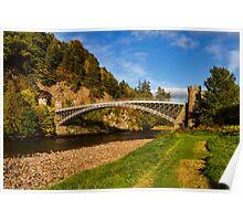 CRAIGELLACHIE THE BRIDGE IN AUTUMN Poster