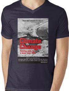 Climate Change Mens V-Neck T-Shirt